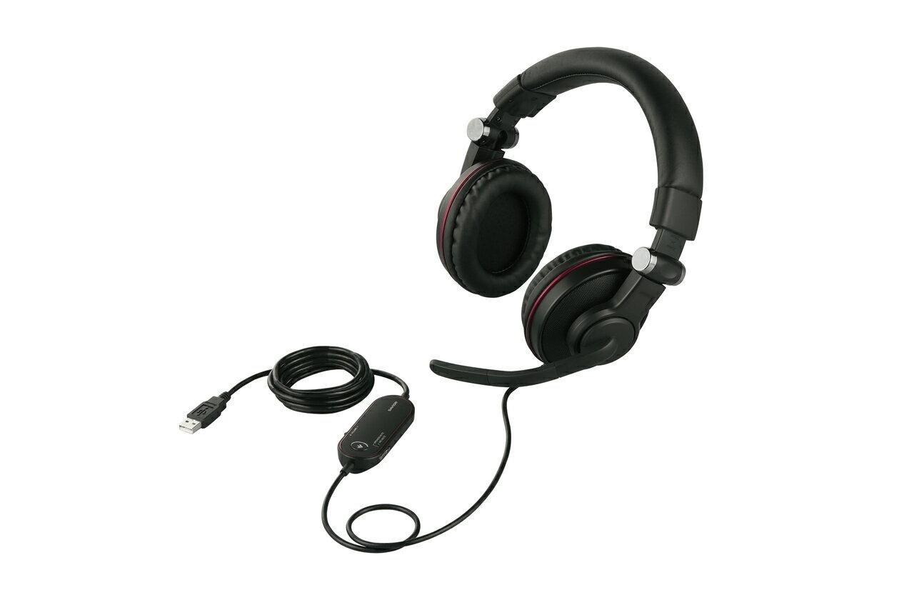 【新品/取寄品】両耳ヘッドバンド式ゲーミングヘッドセット ブラック BSHSUH05BK ブラック