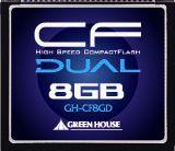 【新品/取寄品/代引不可】233倍速UDMA対応コンパクトフラッシュ ECC機能搭載 8GB GH-CF8GD