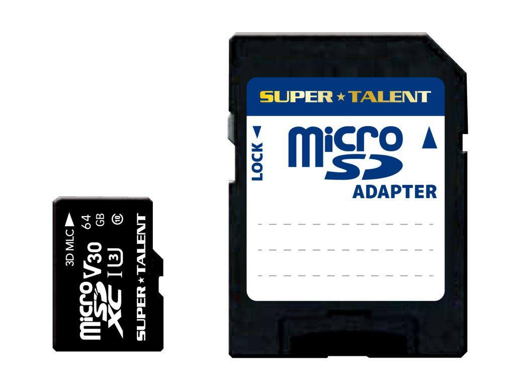 【新品/取寄品/代引不可】監視カメラ・ドラレコ用 高速・高耐久・高信頼性 3D MLC microSDXC 64GB アダプタ同梱 ST64MSU3PD