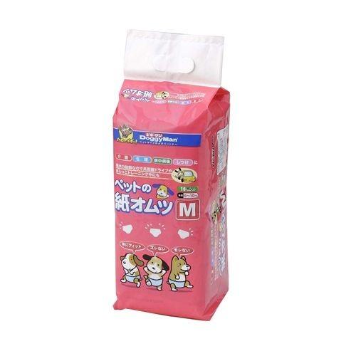 【通販限定/新品/取寄品/代引不可】ドギーマン ペットの紙オムツ Mサイズ*16枚入