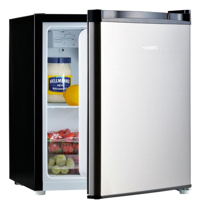 【新品/取寄品】DOMETIC(ドメティック) 1ドア冷蔵庫 DS42 (42L シルバーステンレス&ブラック )
