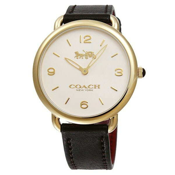 【新品/在庫あり】COACH 14502794 DELANCEY SLIM デランシースリム レディース腕時計ウォッチ ブラック/イエローゴールド/シルバー