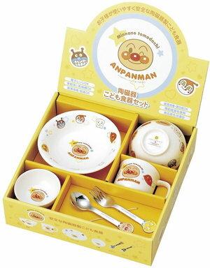 【新品/在庫あり】金正陶器 アンパンマン お子様食器ギフトセットM 日本製 074740 茶碗 皿 マグ スプーン フォーク