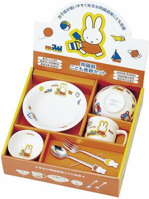 【新品/在庫あり】金正陶器 ミッフィー お子様食器ギフトセットM 日本製 220740 茶碗 皿 マグ スプーン フォーク