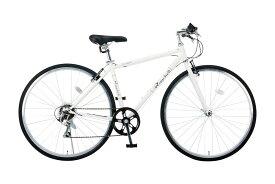 【新品/取寄品/代引不可】Raychell 700C 7段変速 クロスバイク CR-7007R ホワイト(35653) 【北海道・沖縄・離島配送不可】