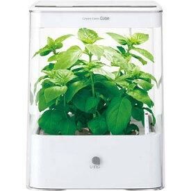 【7月上旬以降、入荷予定となります。】【新品/取寄品】ユーイング 水耕栽培器 グリーンファーム キューブ (ホワイト) UH-CB01G1-W