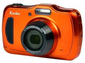 [延長保証加入対象外]【新品/在庫あり】Kenko デジタルカメラ DSC200WP 防塵・防水 IP58 2016万画素 光学4倍ズーム 1m耐衝撃 オレンジ