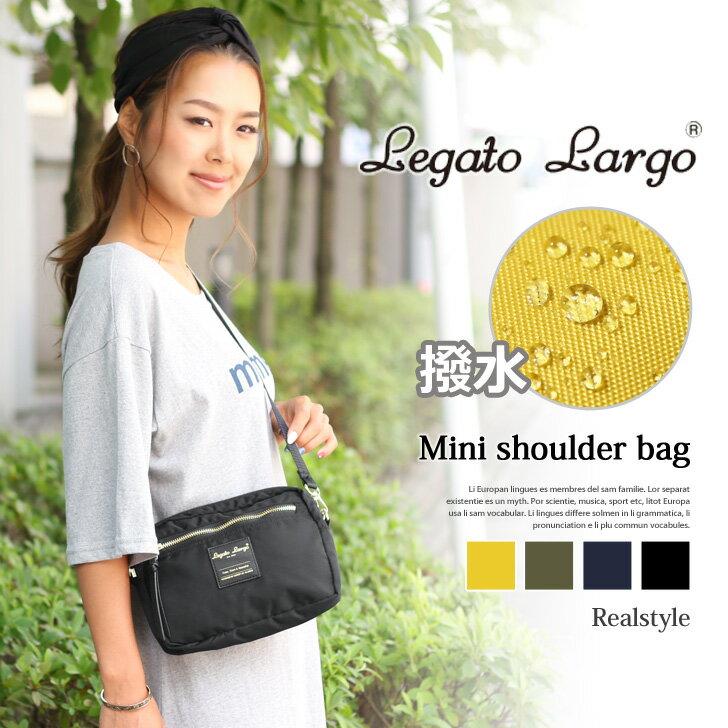 Legato Largo 撥水スクエアミニショルダーバッグ レディース バッグ 鞄 かばん カバン はっ水 斜め掛け 肩がけ 軽量 軽い シンプル サコッシュ レガートラルゴ 旅行 バッグインバッグ 2way