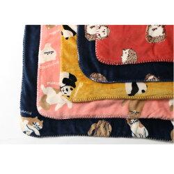動物柄BIGブランケット大判おしゃれ北欧ベビーひざ掛け肩掛けお昼寝会社あったか寝具かわいい100×140cm暖かい掛け布団毛布ひざかけボア大きめアニマル柄赤ちゃん