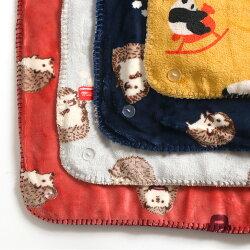3WAY動物柄ブランケットおしゃれ北欧ベビー冬ひざ掛け可愛い肩掛けお昼寝会社あったか寝具かわいい70×100cm暖かい掛け布団毛布ひざかけボア赤ちゃんふわふわ