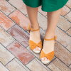 Ribbon design espadrille sandals [7.2cm heel] women/ wedge sole/spring-summer 2015 new item/small size/large size/outlet shoes cute Japan