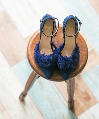 送料無料ファー付きポインテッドトゥハイヒールストラップパンプス痛くないハイヒールストラップ靴結婚式赤ブラック2017秋冬新作ファーレディース脱げないおしゃれ大きいサイズ小さいサイズ