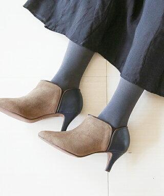 ◆予約商品◆送料無料ポインテッドトゥバイカラーサイドゴアブーティ大きいサイズ歩きやすいレディースサイドゴアショートブーツポインテッドトゥ