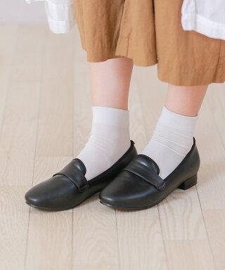 送料無料スマートシルエットローヒールローファー学生レディースメンズパンプス大人ヒールカジュアルシューズ靴シューズ歩きやすいローヒール痛くない疲れにくい大きいサイズ小さいサイズスリッポン