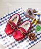 Lady's ssa comfortable to walk in where the boa fringe suede flattie adult casual shoes in マデ 1,699 yen 13cm - 15cm ふわっふわ fake fur ribbon design moccasins baby slip-ons do not hurt at 1/9 9:59