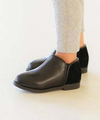 送料無料バイカラーキッズブーティブーティ女の子キッズ子供靴かわいいぺたんこローヒール歩きやすい発表会入学式フラット滑りにくい親子