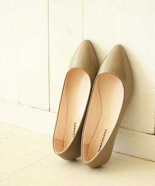 送料無料ポインテッドトゥパンプスバレエシューズシンプルフラットシューズ痛くない走れる歩きやすいレディースバレエ入園式靴ポインテッド黒ブラック大きいサイズ小さいサイズ