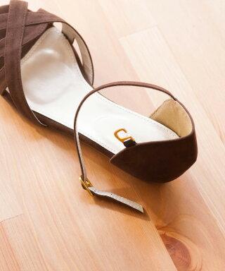 【3/1719:00〜即納化&新サイズ販売開始!】送料無料スエードストラップサンダルレデイース歩きやすいヒールアンクルストラップ痛くないウェッジヒールローヒールa|レディースウェッジソールウェッジウエッジウエッジソールストラップサンダル