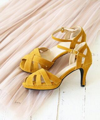 送料無料クロスデザインストームサンダルレディースオフィスストラップ小さいサイズ大きいサイズ2018春夏靴歩きやすいレディースサンダルアンクルストラップスエードハイヒール