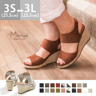 GINGER mirror publication rubber strap wedge sole sandals Lady's walk breathe; heel thickness bottom suede opening toe high-heeled shoes | The size that the size that shoes wedge has a big is small