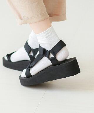 送料無料ウェッジソールベルクロスポーツサンダルレディース厚底ベルクロ歩きやすいおしゃれヒールアウトドア痛くないウェッジヒール大きいサイズ小さいサイズ黒靴下スポーツストラップ滑り止めブラックグレーホワイトウエッジヒール