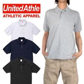 UNITED ATHLE ポロシャツ 鹿の子ポロシャツ メンズ レディース 無地 半袖ポロシャツ 男女兼用 おしゃれ かっこいい 大きいサイズ ヒップホップ ダンス ストリート『40%オフ』 父の日 ギフト