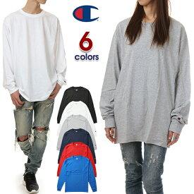 チャンピオン 長袖Tシャツ メンズ レディース 無地 CHAMPION ロングスリーブTシャツ ロンT USAモデル 大きいサイズ ヒップホップ ダンス ストリート 黒 ブラック 赤 グレー ネイビー ブルー 青 ホワイト 白 hiphop 父の日 ギフト