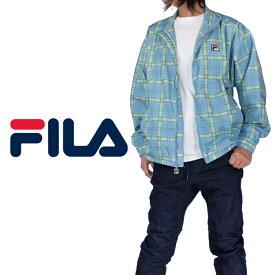 フィラ ナイロンジャケット FILA Tシャツ USAモデル メンズ ウィンドブレーカー レディース アメカジ スポーツ B系 ストリート系 ヒップホップ ダンス 衣装 USA ブランド ファッション チェック 大きいサイズ ロゴ 父の日 ギフト