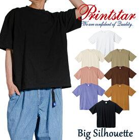 tシャツ メンズ 半袖 無地 Printstar プリントスター 5.6オンス ヘビーウェイトビッグTシャツ 男女兼用 レディース ユニセックス ビッグシルエット メンズ レディース 春夏 S-XLサイズ Printstar プリントスター お揃い
