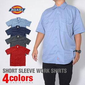 ディッキーズ ワークシャツ 半袖 シャツ DICKIES ワークシャツ 正規 半袖シャツ メンズ レディース ライブ アメカジ ストリート 大きいサイズ レッド 赤 ブラック 黒 ネイビー グレー カーキ作業服 作業着 デッキーズ【USAモデル】 父の日 ギフト