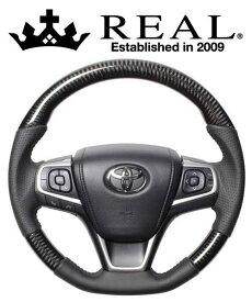 REAL STEERING オリジナルシリーズ トヨタ ノア ZWR80G/ZRR80G/ZRR85G用 カラー:ブラックカーボン (R80-BKC-BK)【ハンドル】レアル ステアリング【通常ポイント10倍!】