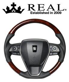 REAL STEERING オリジナルシリーズ トヨタ RAV4 PHV 50系用 カラー:ブラウンウッド(TYA-BRW)【ハンドル】レアル ステアリング