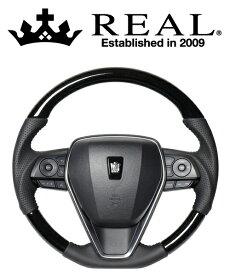 REAL STEERING プレミアムシリーズ トヨタ カローラスポーツ 210系用 カラー:38Bブラックウッド(TYAP-38BBKW)【ハンドル】レアル ステアリング