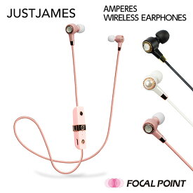 JUSTJAMES / ジャストジェームスAMPERES WIRELESS EARPHONES / アンペアーズ ワイヤレス イヤホン超軽量 約10g / 3つのサイズから替えられる小さめサイズのイヤーピース / Bluetooth イヤホン ワイヤレスイヤホン 女性用 布巻き JUST JAMES ジャスト ジェームズ