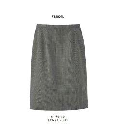 レディスストレッチスカート(グレンチェック)【サイズ:5号〜17号】毛80% ポリエステル50%