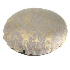 アウトスタイル ラウンドビーズクッションM 円型 63cm オーナメント (ゴールド) 輸入生地 トルコ製 インポート 中身セット 送料無料 ヨーロッパ トルコ 北欧 ジャガード織物 上品 華やか おしゃれ