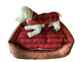 PENDLETON(ペンドルトン)ドッグベッド Lサイズ(RED OMBRE) おしゃれで洗える 送料無料