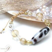 【ヴィーナスの贈り物】白金銭釣天珠ブレスレット