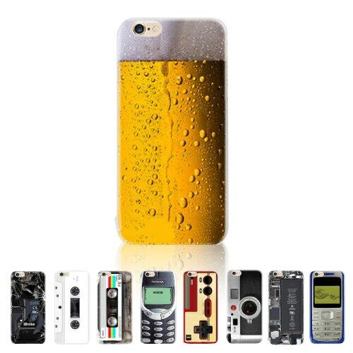 iPhone8 iPhone7 TPU ケース 4.7インチ 宴会 生ビール カメラ ガラケー おもしろ デザイン【保護ケース】