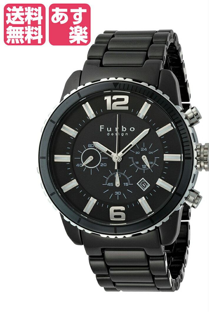在庫限り フルボデザインイルソーレ Furbo Design Ilsole 腕時計 FS405 ソーラークォーツ クロノグラフ ブラックセラミック×ブラックダイヤル メンズ FS405CSBK メンズ