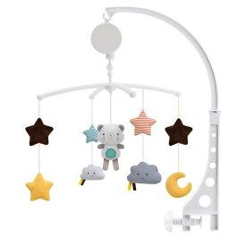 「 ポイント10倍UP」即納 ベッドメリー ベッドぶら下げベル ぬいぐるみ 幼児用寝具メリー ビーズ風鈴 知育玩具 北欧風 吊り下げ式 寝かしつけ用品