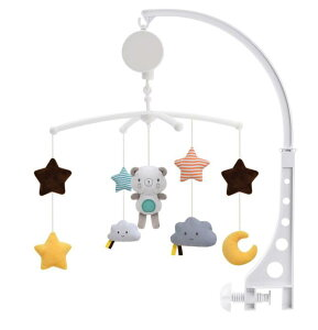 即納 ベッドメリー ベッドぶら下げベル ぬいぐるみ 幼児用寝具メリー ビーズ風鈴 知育玩具 北欧風 吊り下げ式 寝かしつけ用品