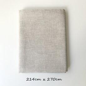 リネン フラットシーツ セミダブル ダブルサイズ エクリュ 麻100% 天然素材 サラサラ 汗をよく吸う 早く乾く 洗える 生成り 白 交織 接ぎ目なし