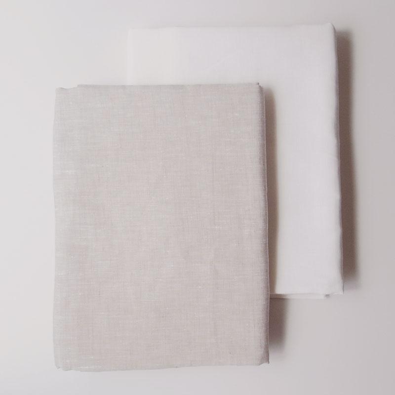 リネン麻100%フラットシーツセミダブル-ダブルサイズ 220x270cm