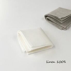 リネン ハンカチ ホワイト 白 無地 シンプル 男女兼用 刺繍用 手芸 ハンドメイド 麻100 速乾 サラサラ ベラルーシ製
