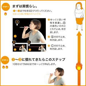 ダイエット腹式呼吸腹筋フェイスライン表情筋小顔くびれウエストたるみ下腹お腹簡単引締め痩せるブレストレーニングマシン器具ダイエットダイエット器具肺活量ダイレクトめざましTV腹式呼吸エクサロングピロピロ
