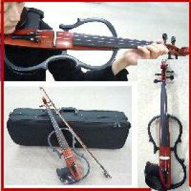 サイレントバイオリンセット/ケース・弓・松脂4点セット ブラウン【1年保証・お届け直前バイオリン調整付き】