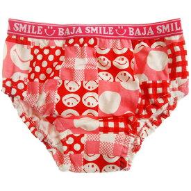 BAJA SMILE バハスマイル スマイルパッチ柄ショーツ (ゆうパケット(メール便)OK)子供服 子ども服 下着 kids キッズ ジュニア