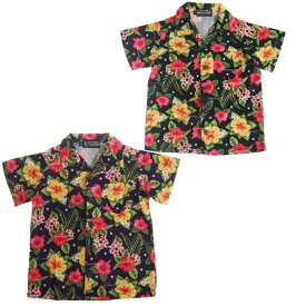 【50%OFF セール(SALE)】CONVEX コンベックス ハイビスカス柄半袖シャツ (メール便OK)S(155〜165cm) (2019春夏)子ども服 子供服 メンズ レディース