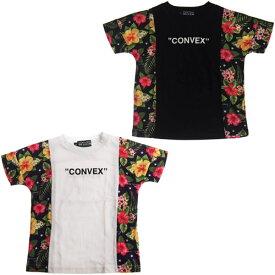 【50%OFF セール(SALE)】CONVEX コンベックス ハイビスカス切り替えT/半袖Tシャツ (メール便OK)S(155〜165cm) (2019春夏)子ども服 子供服 メンズ